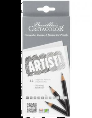 Cretacolor Artist Studio - Tekenpotloden 12 stuks