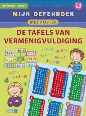 Deltas groep 4 - Oefenboek met poster ~ De tafels van vermenigvuldiging