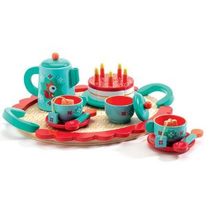 Djeco houten speelgoed - Verjaardagsservies Foxy Vos