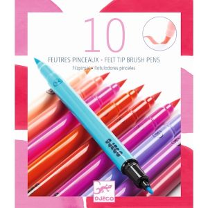 Djeco kleuren - 10 dubbele stiften fine liners roze