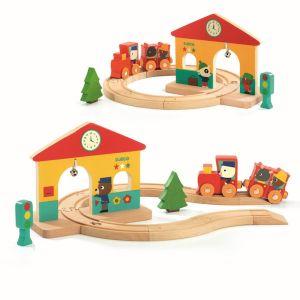 Djeco houten treinset