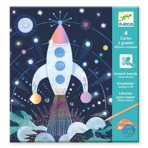 Djeco kraskaarten - Ruimtevaart missie