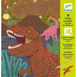 Djeco kraskaarten - Dinosaurussen