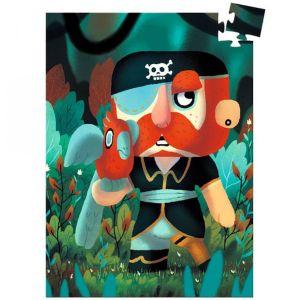 Djeco mini puzzel - Piraat met Papegaai Sam