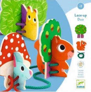 Djeco rijgspel dieren - Lace-up Duo