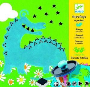 Djeco knutselset - Stempels en Sjablonen Grote Monsters