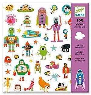 Djeco stickers - OXO planet buitenaardse wezentjes