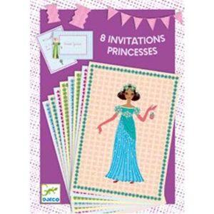 Djeco uitnodigingen - Prinses