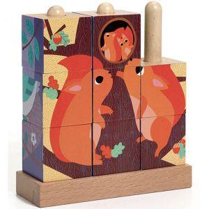 Djeco blokpuzzel - puzz up forest
