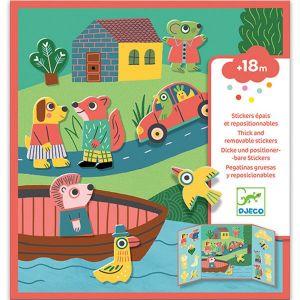 Djeco herplakbare stickers - dieren