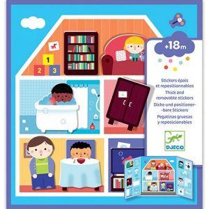 Djeco herplakbare stickers - huis
