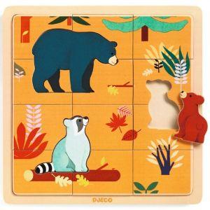 Djeco houten puzzel - Canada (15 stukjes)