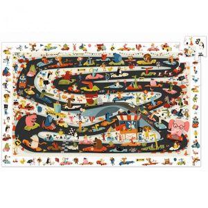 Djeco Puzzel - Autorace (54 stukjes)