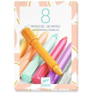 Djeco kleuren - 8 wascokrijtjes pastel