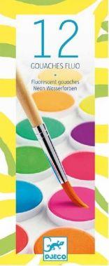 Djeco waterverf neon 12 kleuren