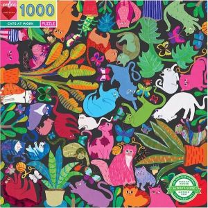 Eeboo puzzel - Cats at work 1000st.