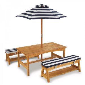 Kidkraft houten tuinset met parasol - kindertuinset