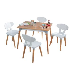 Kidkraft Houten tafel met 4 stoeltjes - Mid Century