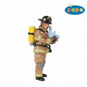 Papo figuur - Brandweerman redt baby