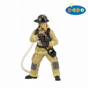 Papo figuur - Brandweerman met brandslang