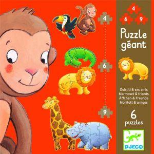 Djeco puzzel peuter - Safaridieren