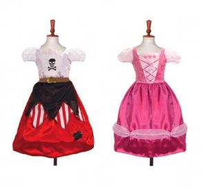 Travis Designs - Prinsessen- en Piratenjurk 2-in-1 ~ 3-5 jaar