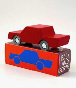Waytoplay - houten auto heen-en-weer rood