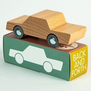 Waytoplay - houten heen-en-weer auto naturel